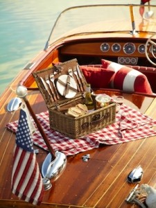 picnic on a boat