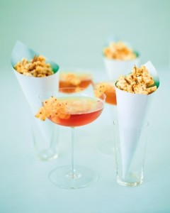 popcorn and champagne