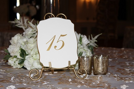The Event Group, weddings, table numbers, calligraphy, Pittsburgh, event planner, wedding planner