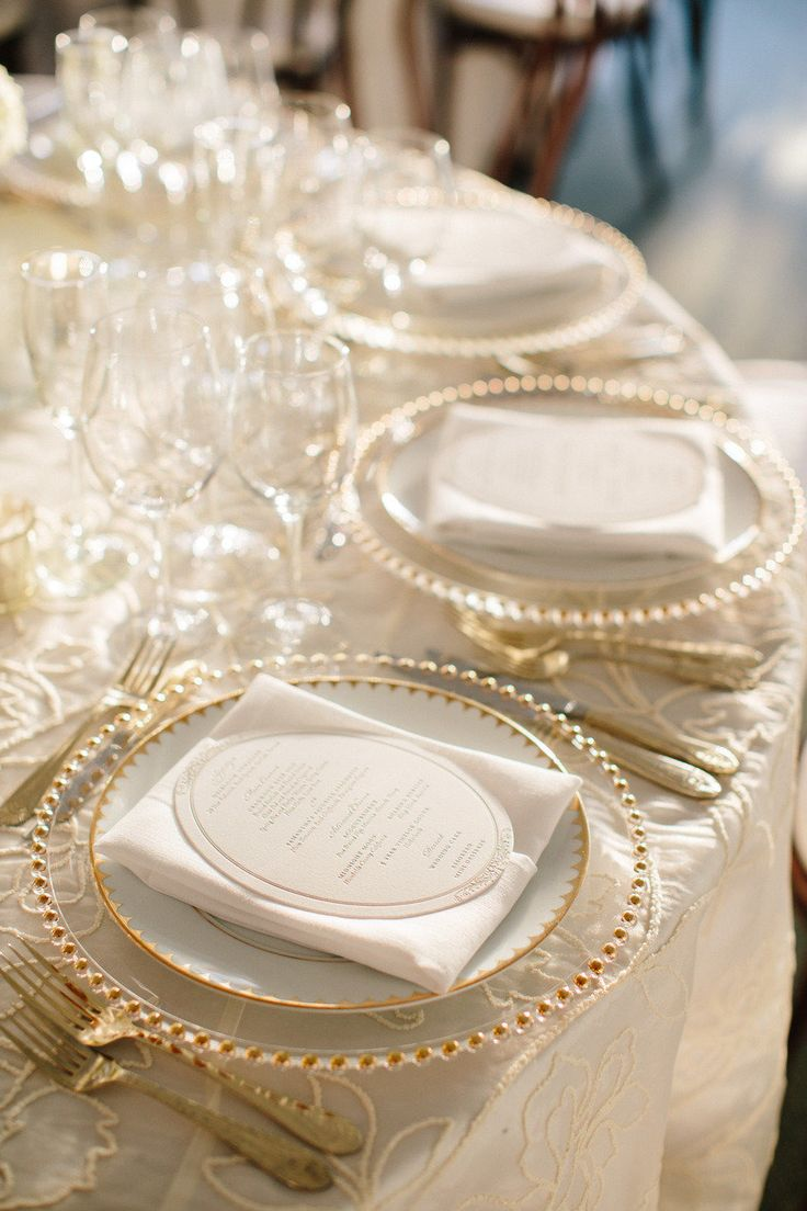 wedding reception plates - Wedding Decor Ideas & Captivating White Plastic Charger Plates Ideas - Best Image Engine ...