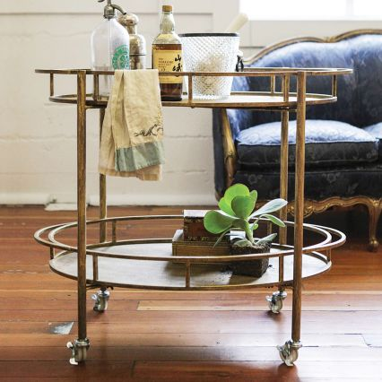 2 Tier Entertaining Bar Cart | The Event Group, Pittsburgh Wedding and Event Planner