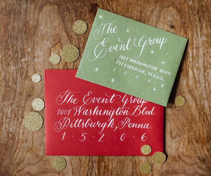 Holiday Calligraphy - The Event Group - Eva Lin Photography